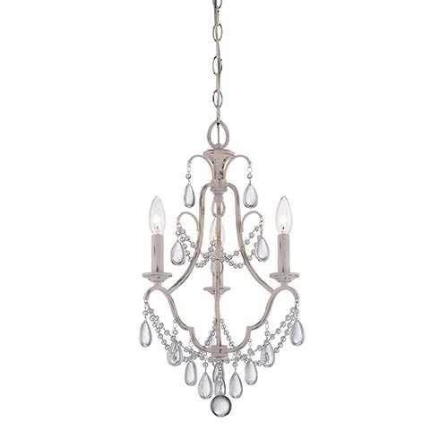 Provencal Blanc Three-Light Mini Chandelier