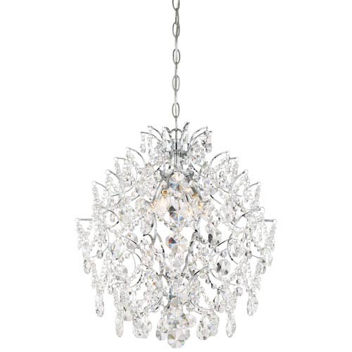 Isabellas Crown Chrome Four-Light Chandelier