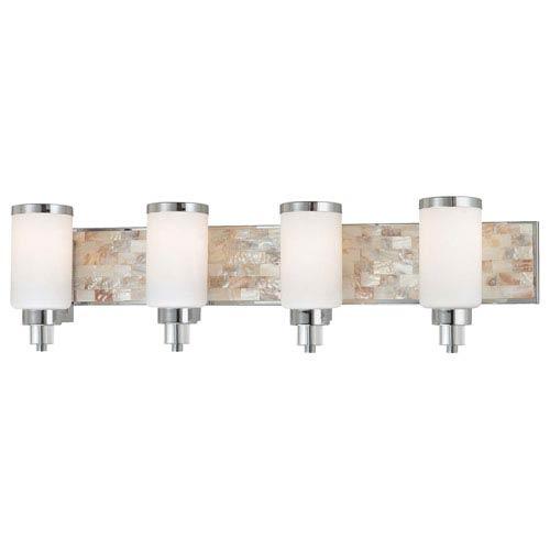 Minka lavery cashelmara chrome four light bath fixture - Chrome bathroom lighting fixtures ...