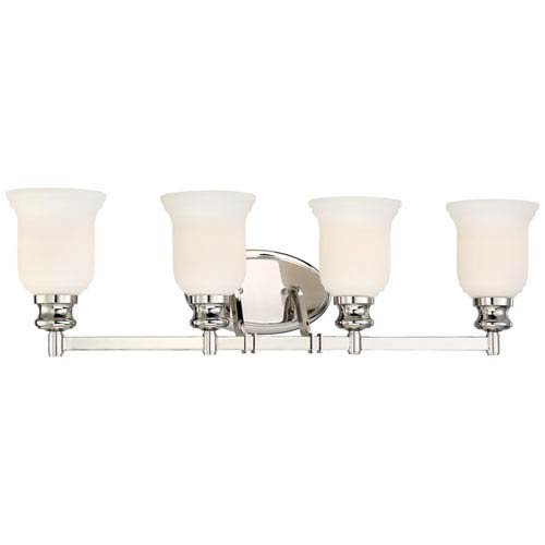 Audreys Point Polished Nickel Four-Light Vanity