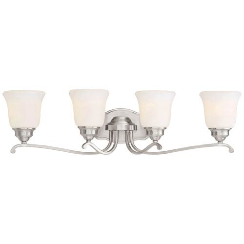 Minka-Lavery Savannah Row Brushed Nickel Four-Light Vanity