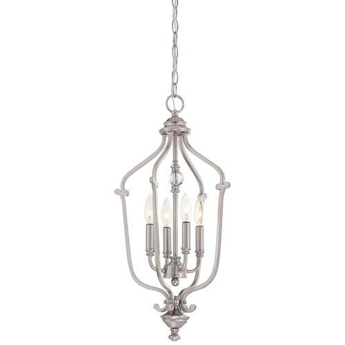 Savannah Row Brushed Nickel Four-Light 24-Inch Chandlier