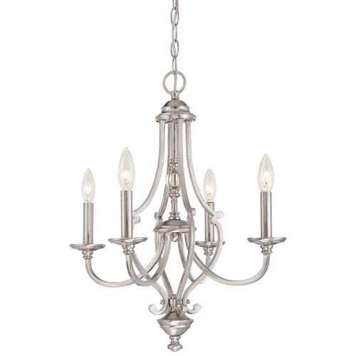 Savannah Row Brushed Nickel Four-Light Chandlier