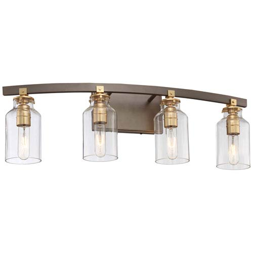 Morrow Harvard Court Bronze Four-Light Vanity