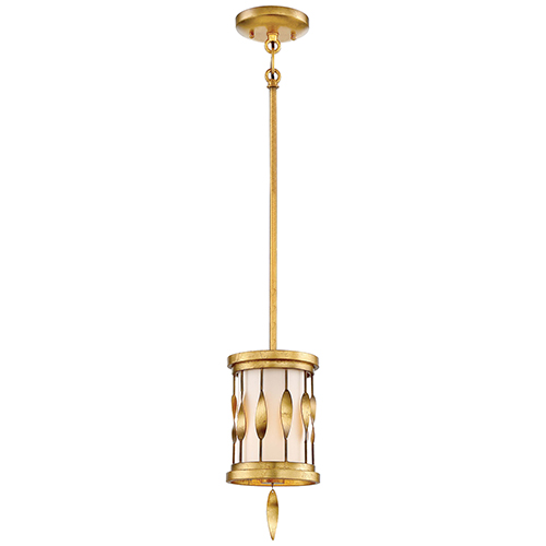Minka-Lavery Olivetas Il Terrace Gold Leaf 6-Inch One-Light Mini Pendant