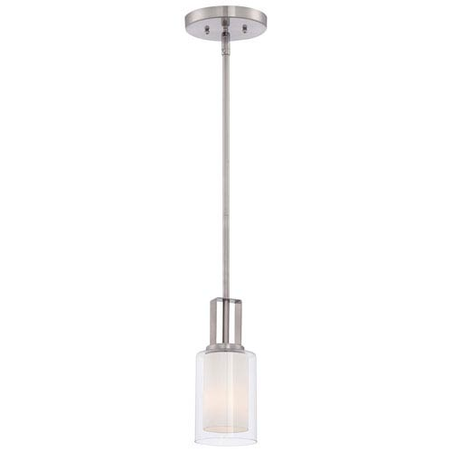 Parsons Studio Brushed Nickel 4.5-Inch One-Light Mini Pendant