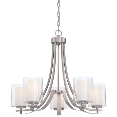 Parsons Studio Brushed Nickel 25.5-Inch Five-Light Chandelier