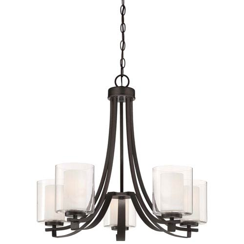 Parsons Studio Smoked Iron Five-Light Chandelier