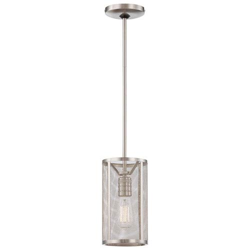 Downtown Edison Brushed Nickel 10-Inch One Light Pendant