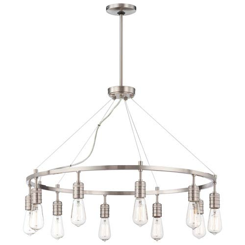 Minka-Lavery Downtown Edison Brushed Nickel 10 Light Chandelier