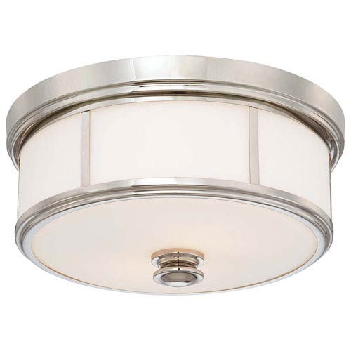 Minka-Lavery Polished Nickel Two-Light Flush Mount