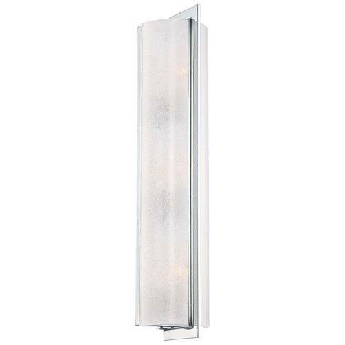 Minka-Lavery Clarte Chrome Three-Light Wall Sconce with White Iris Glass