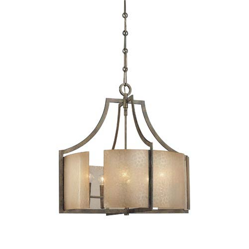 Clarte Patina Iron Six-Light Chandelier