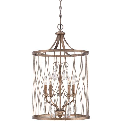 West Liberty Olympus Gold 18.5-Inch Five-Light Pendant