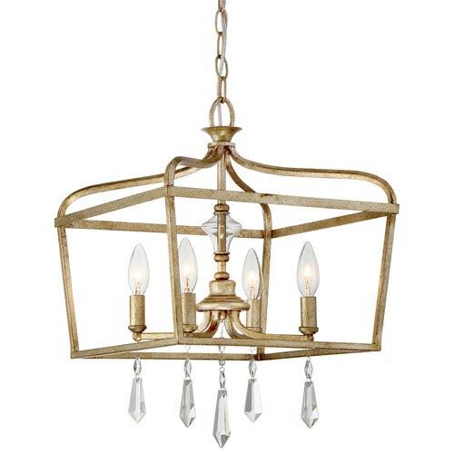 Laurel Estate Brio Gold Four-Light 19-Inch Pendant