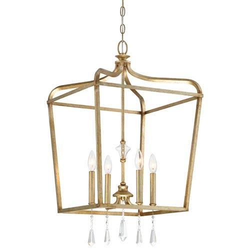 Laurel Estate Brio Gold Four-Light 17-Inch Wide Pendant