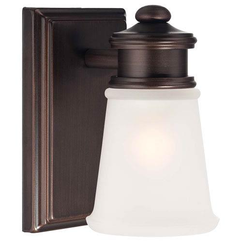 One-Light Bath Light in Dark Brushed Bronze