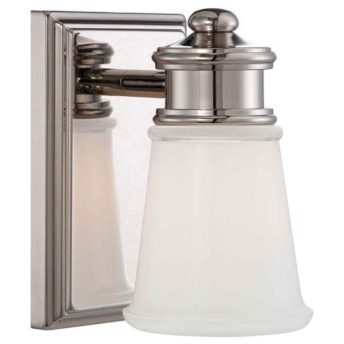 Minka-Lavery One-Light Bath Light in Polished Nickel