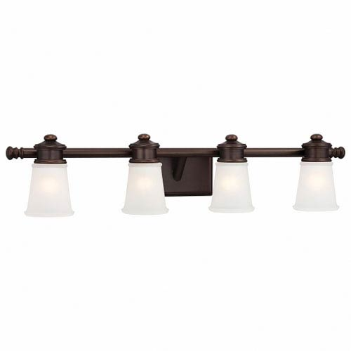 Minka-Lavery Four-Light Bath Light in Dark Brushed Bronze