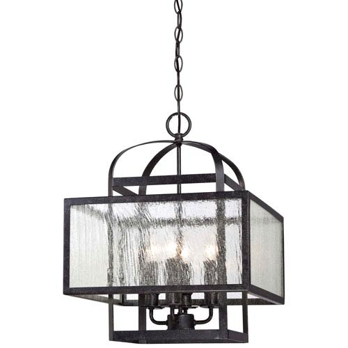 Minka-Lavery Camden Square Aged Charcoal Four-Light Mini Chandelier