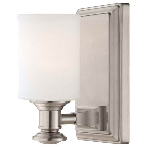 Minka-Lavery Harbour Point Brushed Nickel One Light Bath Fixture