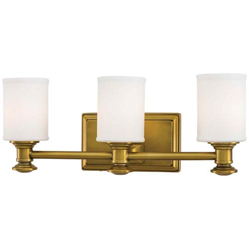 Harbour Point Liberty Gold Three-Light Bath Fixture