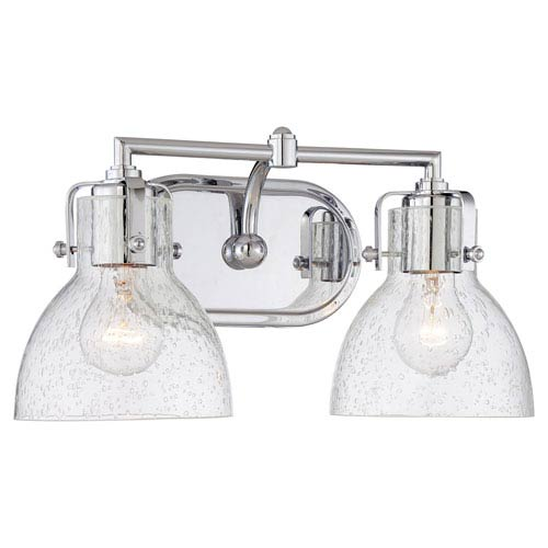 Transitional Bath Chrome Two-Light Bath Bar Light
