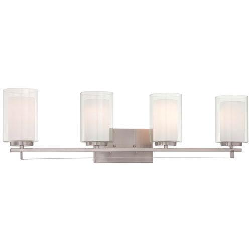Minka-Lavery Parsons Studio Brushed Nickel 32.5-Inch Four-Light Vanity Fixture