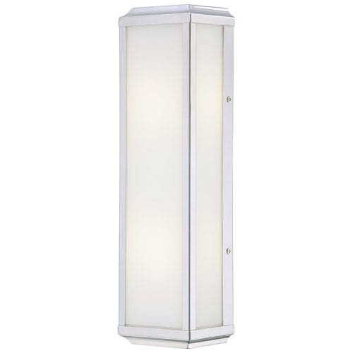Minka-Lavery Daventry Polished Nickel Two-Light Wall Sconce with White Glass