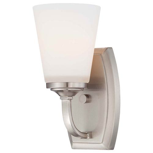 Minka-Lavery Overland Park Brushed Nickel One Light Bath Fixture