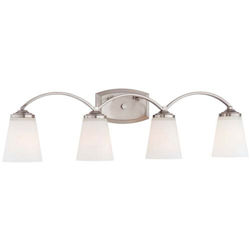 Minka-Lavery Overland Park Brushed Nickel Four Light Bath Fixture
