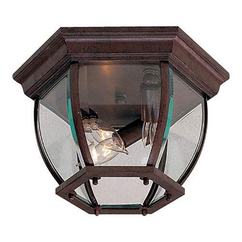 Antique Bronze Three-Light Outdoor Lantern Mount