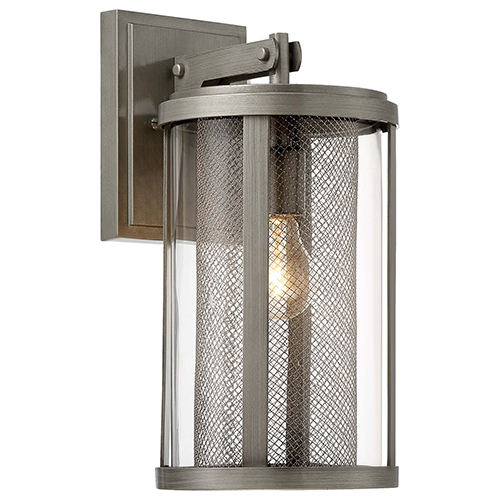 Minka-Lavery Radian Painted Brushed Nickel 7-Inch One-Light Outdoor Wall Mount