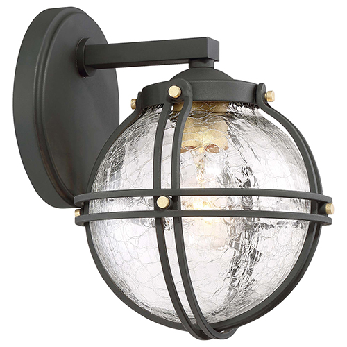 Minka-Lavery Rond Black 7-Inch One-Light Outdoor Wall Mount
