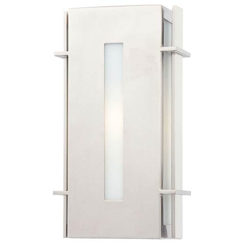 Minka-Lavery Colva Pl Brushed Stainless Steel One-Light Outdoor Pocket Lantern