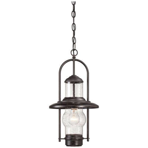 Settlers Way One-Light Outdoor Chain Hung in Textured French Bronze