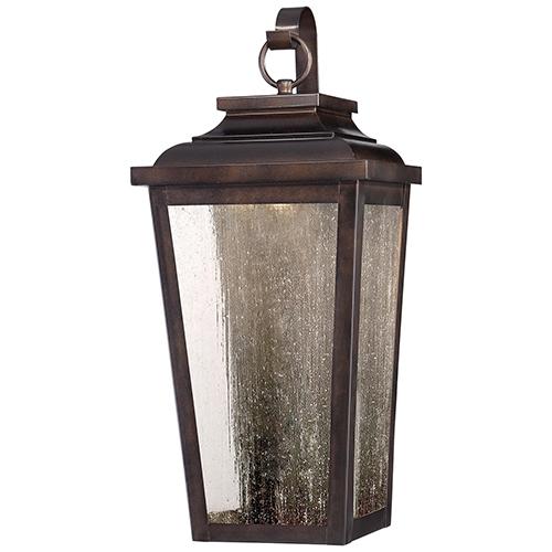 Irvington Manor LED Chelesa Bronze 9-Inch LED Outdoor Pocket Lantern