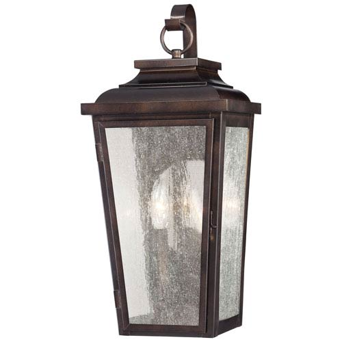 Irvington Manor Two-Light Outdoor Wall Mount in Chelesa Bronze
