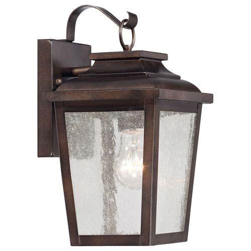 Irvington Manor One-Light Outdoor Wall Mount in Chelesa Bronze
