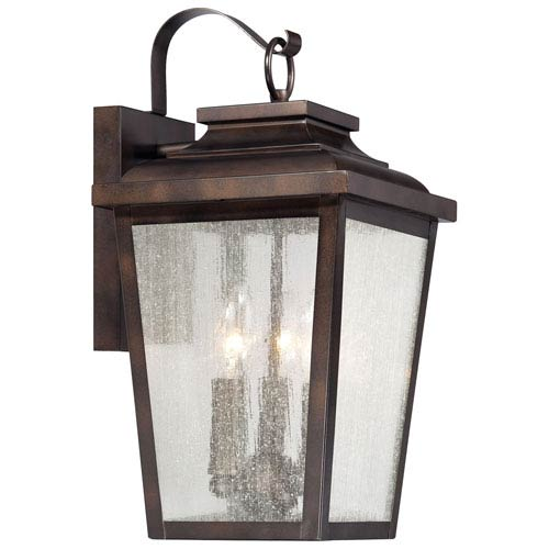 Irvington Manor Three-Light Outdoor Wall Mount in Chelesa Bronze