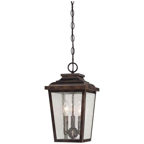 Minka-Lavery Irvington Manor Three-Light Outdoor Chain Hung in Chelesa Bronze