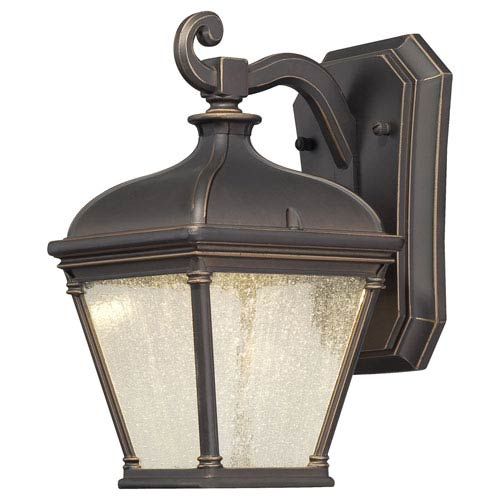 Lauriston Manor Oil Rubbed Bronze w/Gold Highlights Wall Lantern