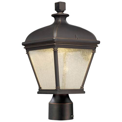 Minka-Lavery Lauriston Oil Rubbed Bronze with Gold Highlights One-Light Outdoor LED Post Mount