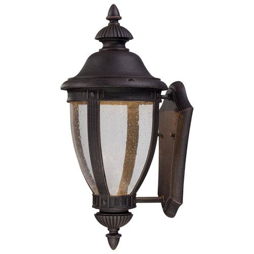 Minka-Lavery Wynterfield Rust 15.5-Inch LED One Light Outdoor Wall Mount