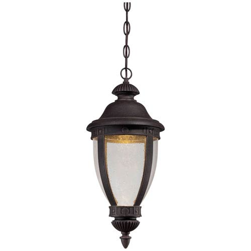 Minka-Lavery Wynterfield Rust 19-Inch LED One Light Outdoor Chain Hung