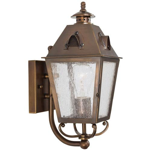 Edenshire One-Light Outdoor Wall Mount in English Brass