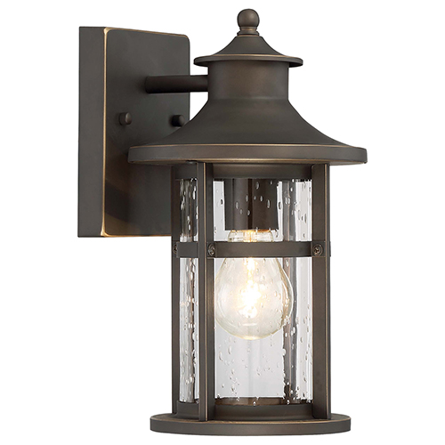 Minka-Lavery Highland Ridge Oil Rubbed Bronze 7-Inch One-Light Outdoor Wall Lamp