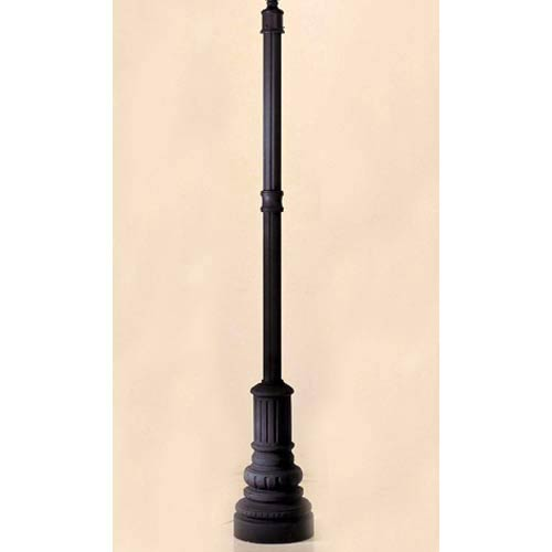 13.5-Inch Black Outdoor Post