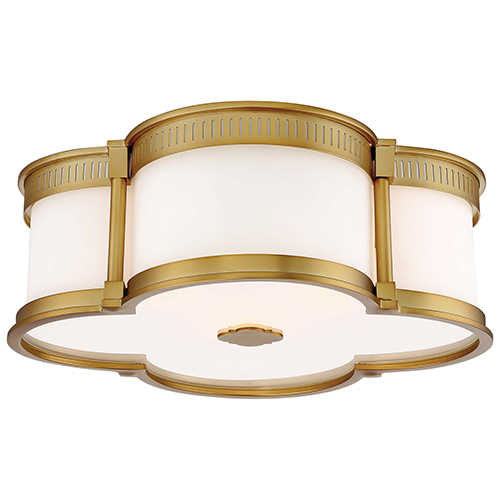 gold flush mount light scalloped minkalavery liberty gold 16inch threelight flush mount minka lavery 16 inch three light 824 249