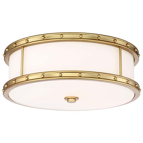 Minka-Lavery Liberty Gold 16-Inch Three-Light Flush Mount